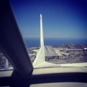 Avgang fra Catalina's Airport in the Sky (Foto: Erlend Krumsvik).